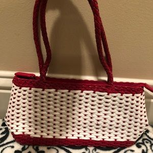 NWOT Talbots red and white small purse.